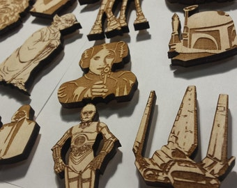 Star Wars Magnets | Star Wars Room Decor | Star Wars Gift | Star Wars Stocking | Han Solo | Yoda | Star Wars Decorations | Party