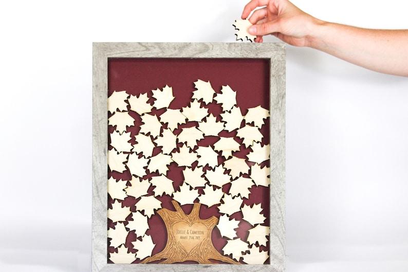 Personalized Wedding Tree Drop Box Guest Book Alternative  image 0
