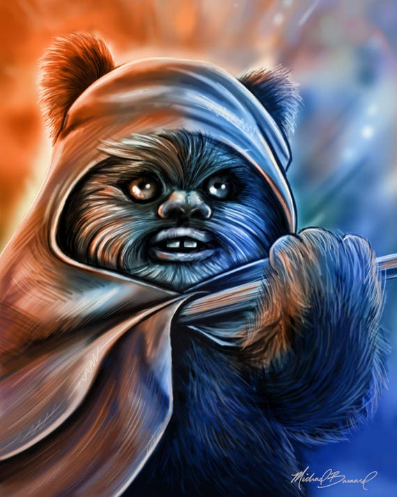 Large Star Wars Return of the Jedi 35th Anniversary Star Wars Wicket Ewok Plush