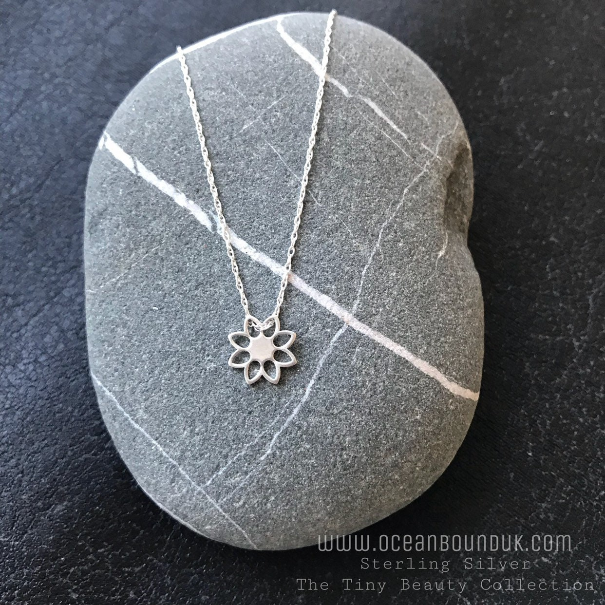 Nude Sterling Silver Lotus Flower Necklace From My Tiny Beauty