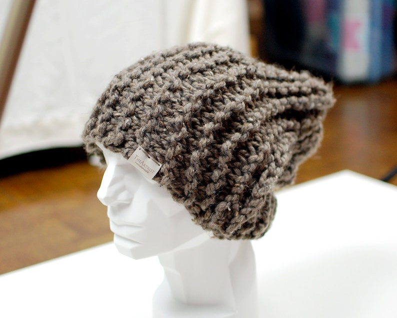 The SLOUCHY BIG BRIM beanie men and women unisex slouchy  8bc4bf776d8