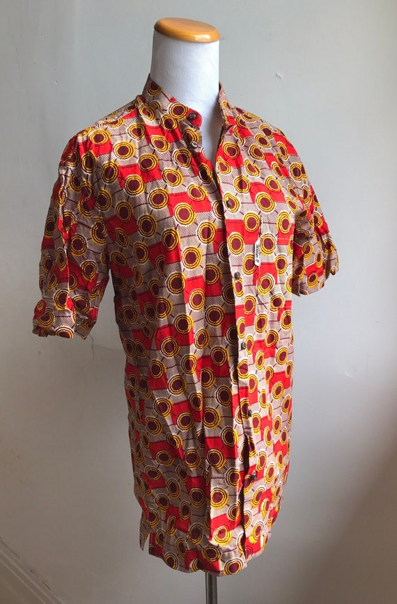 Vintage 70s Abstract Psychedelic Shirt | Burnt Ora
