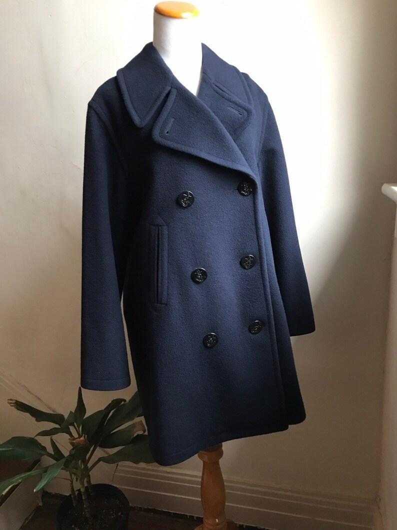 cef1378bea Peacoat Burberry vintage | BURBERRYS del cappotto del marinaio del blu  marino di Londra | Progettista Peacoat