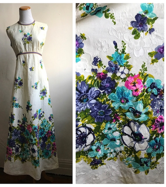 Vintage Boho Hippie Dress | 70s Flower Child Dress