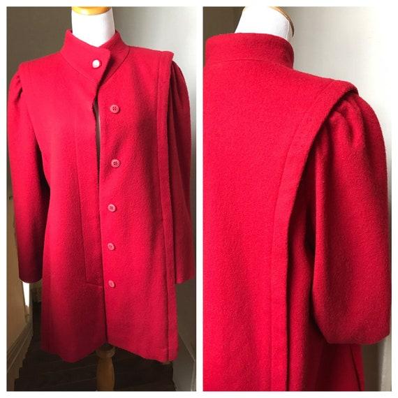Vintage Red Coat | Womens Wool Short Coat | MOD Co