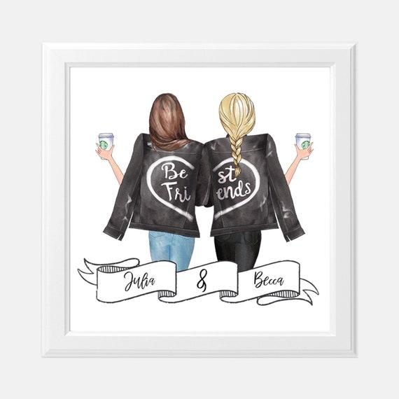 Custom Best Friend Print 8 X Personalized