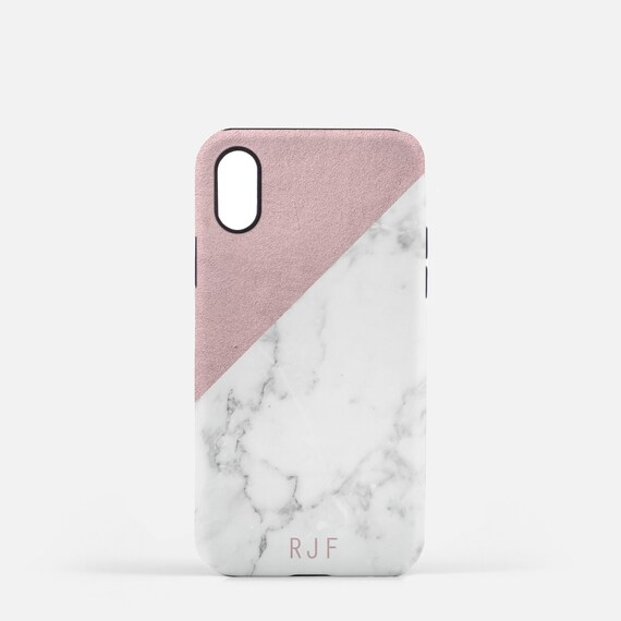 new concept 57835 3e135 Custom Marble and Rose Gold Phone Case with Monogram, With Initial, Marble  Phone case, Best Friend Birthday Gift, iPhone 6, 7, 8, X, Samsung
