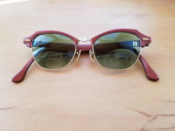1940's Bausch & Lomb Women's Aviator Sunglasses -