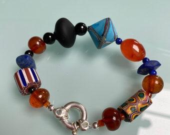 Venetian glass, gemstone bracelet