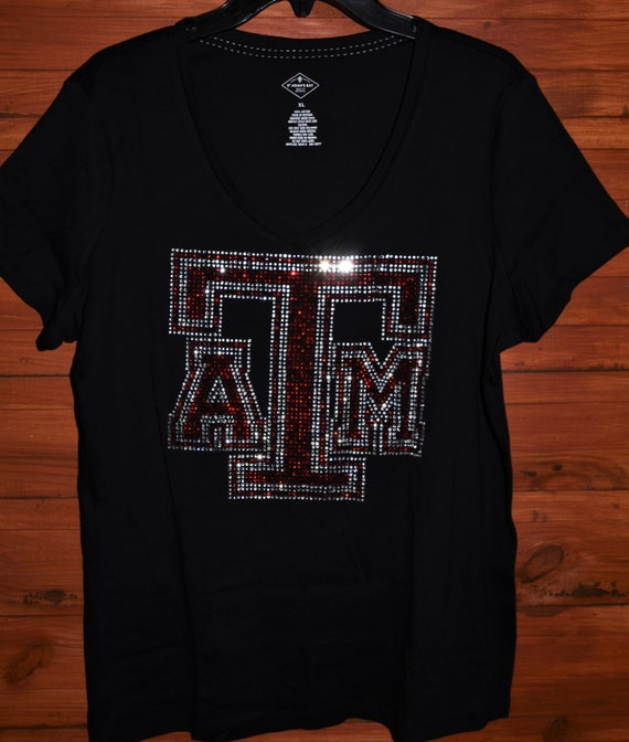 Texas A /& M  rhinestone bling shirt XS S M L XL XXL 1X 2X 3X 4X 5X LOVE Texas AM