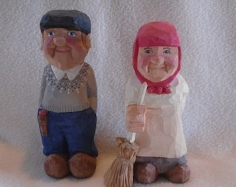 Custom Made Handcarved Character Figures