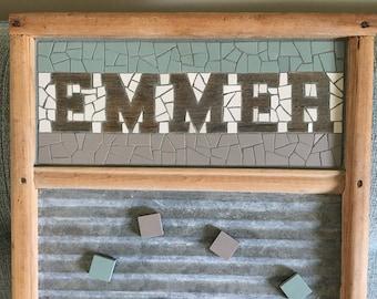 Family Name Mosaic Washboards
