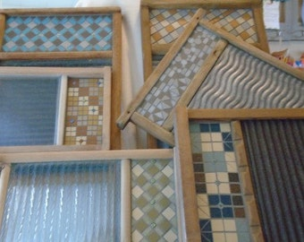Custom Made Antique Washboards with Mosaic Pattern