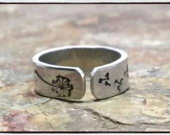 Dandelion Fluff Wish Ring - Customized your way!