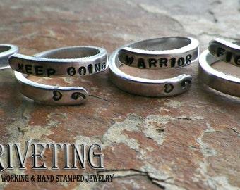 Semi Colon inspirational adjustable ring