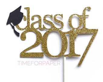 Class of 2018 Cake Topper - 2018 Graduation, Grad Party, Graduation Cap, Cupcake Toppers