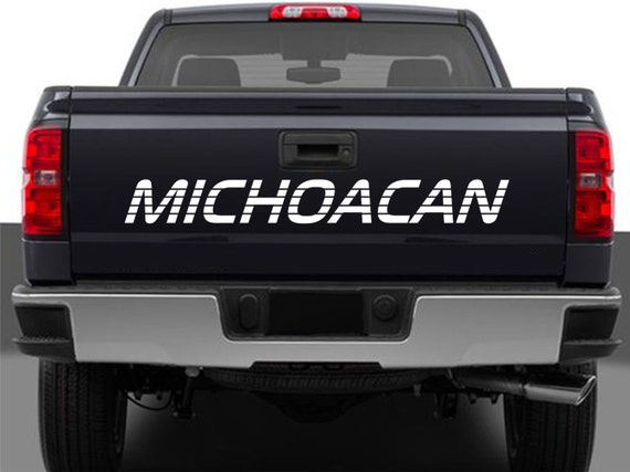 michoacan mexico truck decal sticker tailgate for chevy etsy michoacan mexico truck decal sticker tailgate for chevy silverado gmc sierra 90 s 454ss style lettering