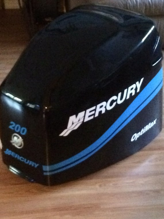 Mercury 150 HP XR6 outboard engine decal sticker RED set