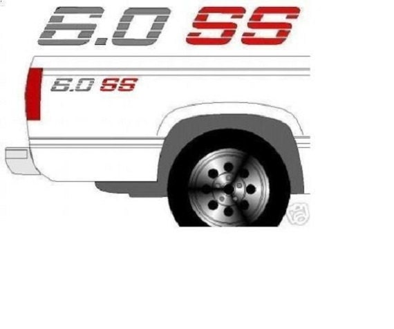 350 Small SS Bedside Decals Tailgate Decal Set