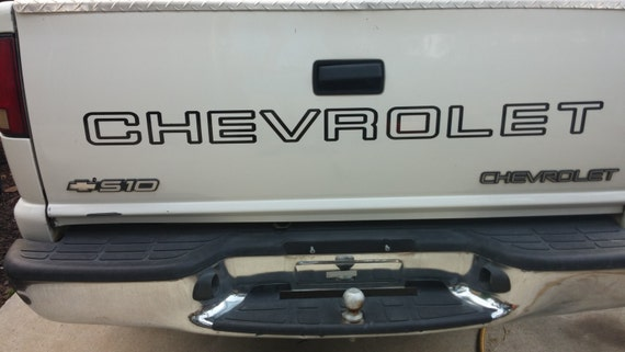 Chevrolet 454 SS Muscle Truck Tailgate Vinyl Decals choose Color