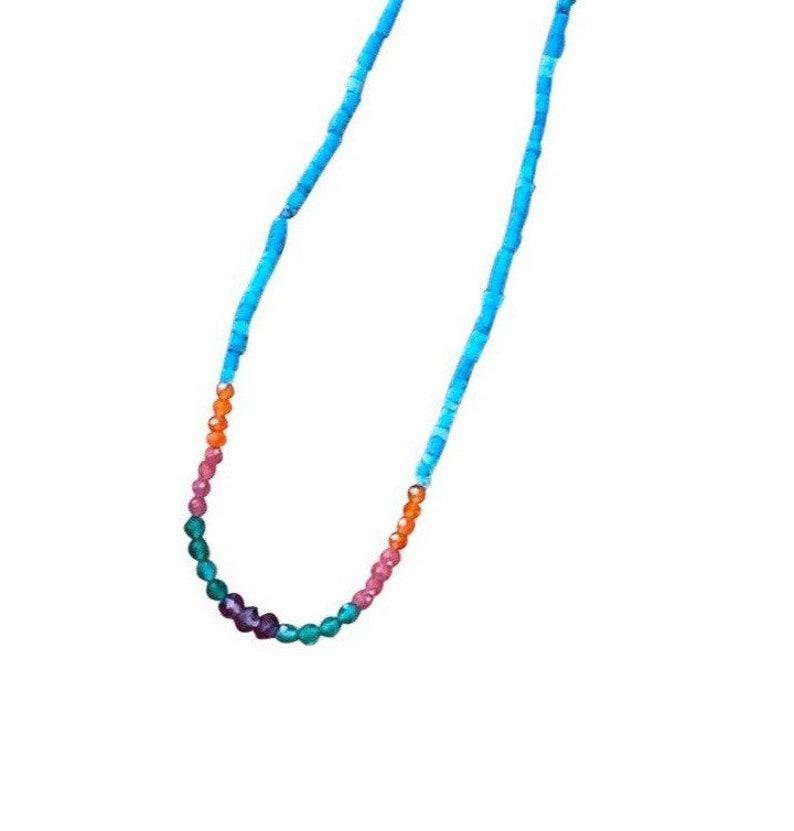 Turquoise Necklace southwestern necklace birthday gift image 0
