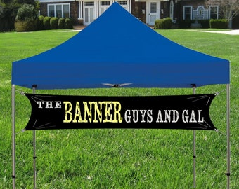 Custom Tent banner for Trade Show, Craft Show or Event Sign, Your customer Logo and Business Name Banner