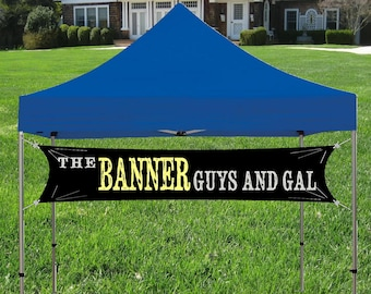 Custom Tent banner for Trade Show, Craft Show or Event, Your customer Logo and Business Name Banner