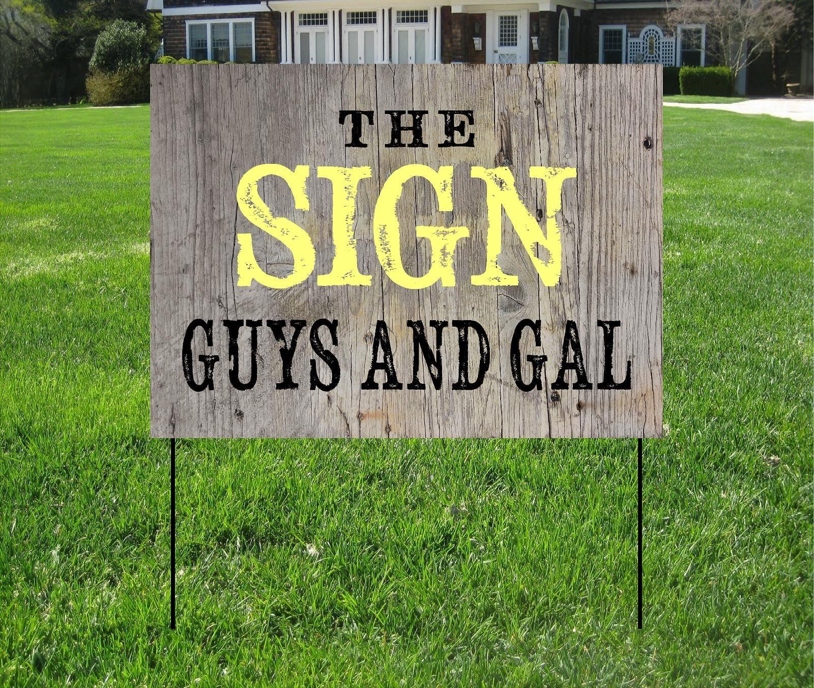 Custom Yard Signs Custom Logo Yard Signs Company or Event ...