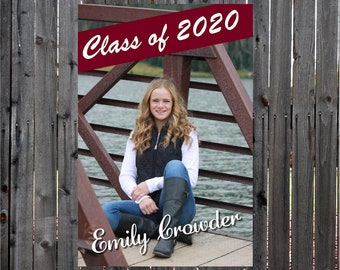Senior Class of 2021 Banner, Graduation Sign, Fence or Garage door Senior Banner