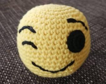 Crochet Ball emoji Cheek smiley