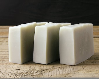 Lemon Eucalyptus & French Clay Soap / Handmade / Vegan / Palm Oil Free / Essential Oil Soap / Natural Soap