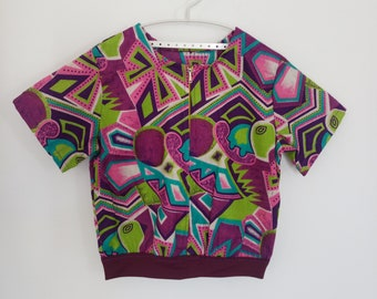 Top with short sleeves, wax