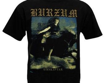 T-Shirt BURZUM Umskiptar Metal Band Nation Rock Shirt Different Size New 760e5fb301d5
