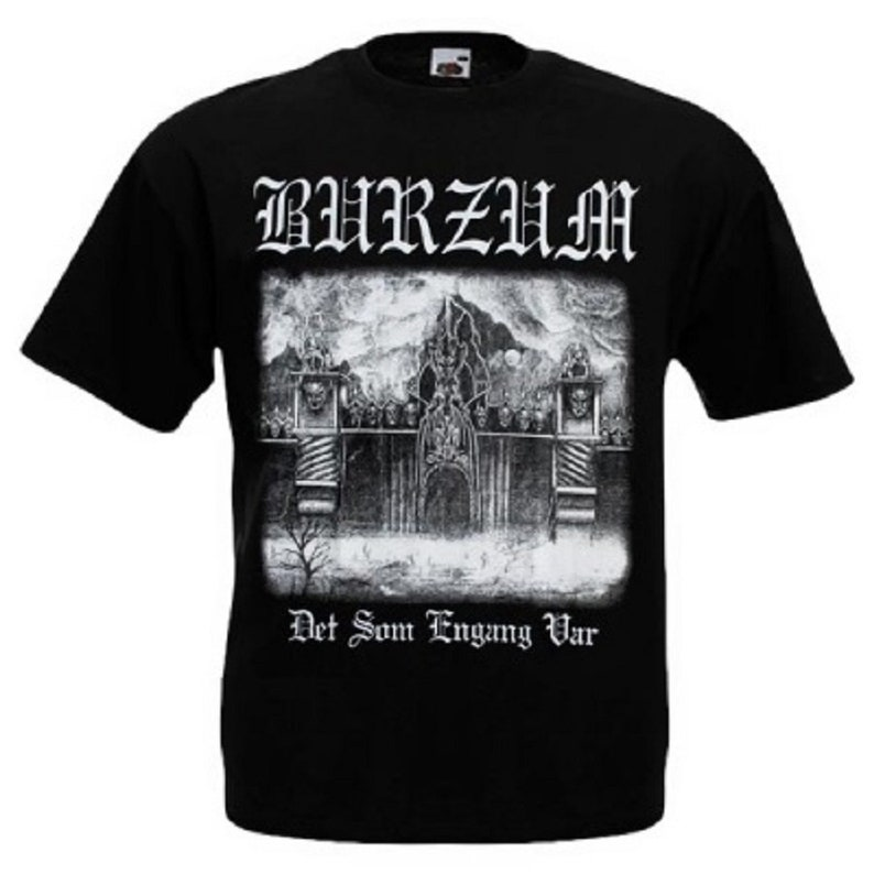 e6baa2285 T-Shirt BURZUM Hvis Lyset Tar Oss Black Metal Band Nation Rock   Etsy
