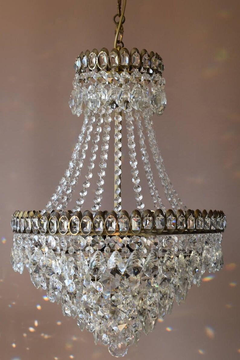 Surprising Sale Large Chandelier Chic Shabby Brass Pendant Fully Rewired Etsy Wiring 101 Bdelwellnesstrialsorg