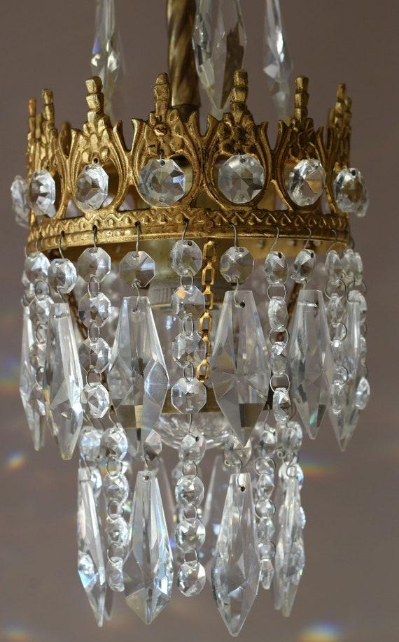 Antique Chandelier Crystal