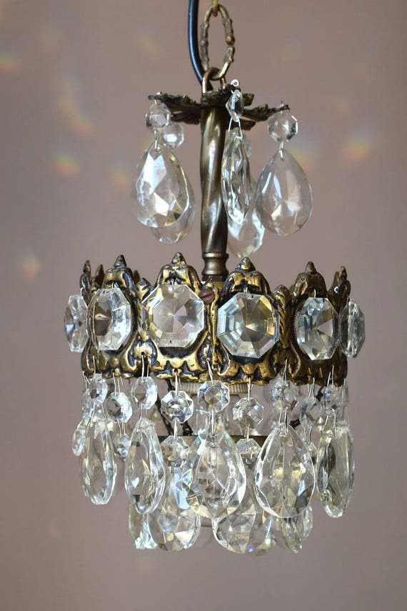 image 0 - Home Interior Vintage Crystal Chandelier Antique French Etsy