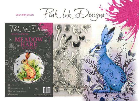 Meadow Hare stamp including bonus fabric