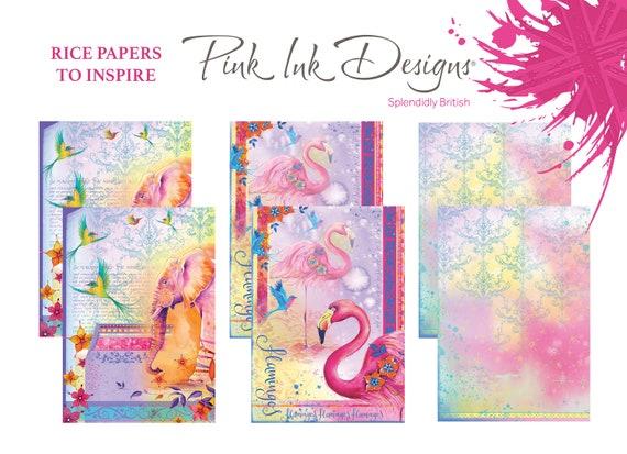 Rice paper, Pink Ink Designs.