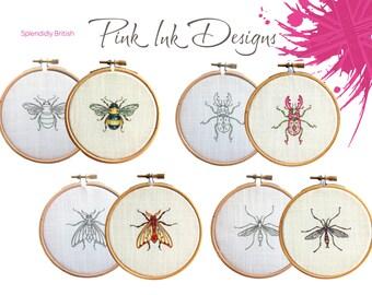 Beetle bug embroidery pattern.