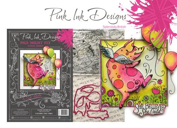 Pig stamp and die set