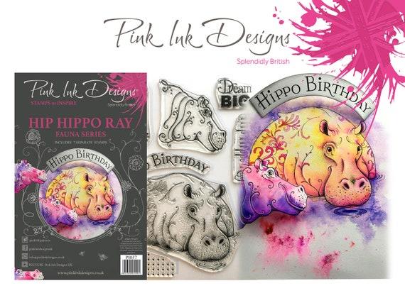 Hippo stamp including bonus A3 fabric