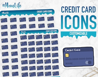 Mom Life | Credit Card Icons | Planner Stickers