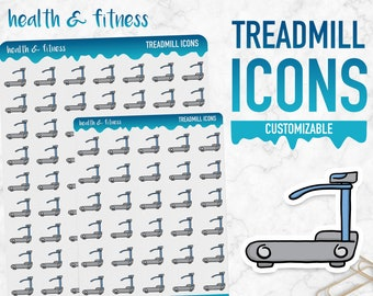 Health & Fitness | Treadmill Icons | Planner Stickers