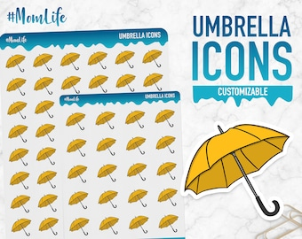 Mom Life | Umbrella Icons | Planner Stickers