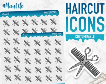 Mom Life | Haircut Icons | Planner Stickers
