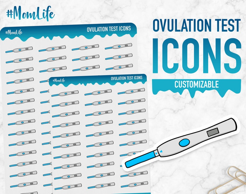 Mom Life  Ovulation Test Icons  Planner Stickers image 0
