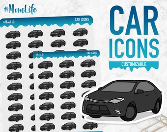 Mom Life | Car Icons | Planner Stickers