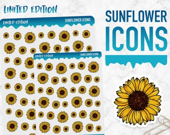 Limited Edition | Sunflower Icons | Planner Stickers