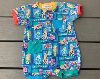 8731350ad Vintage Gymboree romper / 18 months / Summer one piece / toddler romper